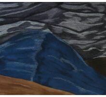 Dark Hills Mixed Media Sticker