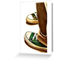 All Star running shoes Greeting Card