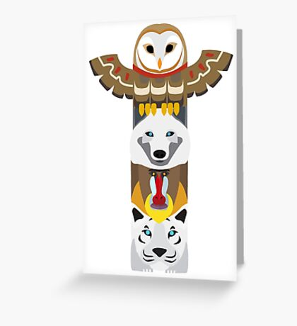 Alaskan Totem Pole Greeting Card