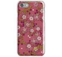 Floral texture with imitation glass iPhone Case/Skin