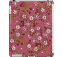 Floral texture with imitation glass iPad Case/Skin
