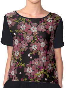 Floral texture with imitation glass Chiffon Top