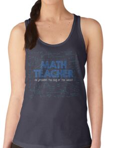 Math Teacher (no problem too big or too small) - blue T-Shirt