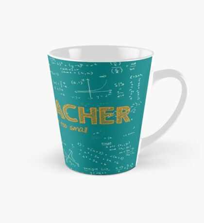 Math Teacher (no problem too big or too small) - green Mug