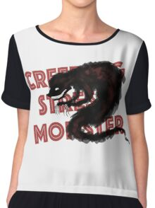 The Creeping Stress Monster Chiffon Top