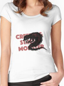 The Creeping Stress Monster Women's Fitted Scoop T-Shirt
