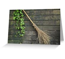 Witches broomstick Greeting Card