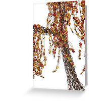 Autumn Willow Tree - white Greeting Card