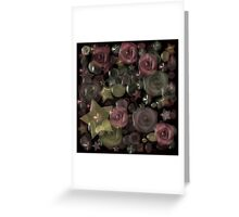 Floral texture imitation glass. Greeting Card
