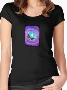 Cosmic Dragonfly Women's Fitted Scoop T-Shirt