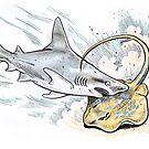 Sandbar Whaler V Blue Spotted Stingray by SnakeArtist