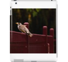 Sitting on the fence iPad Case/Skin