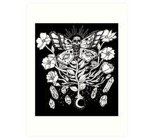 Death Moth Rising Art Print