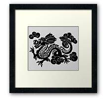 Year of the Luck Dragon (Black Ink)  Framed Print