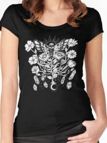 Death Moth Rising Women's Fitted Scoop T-Shirt