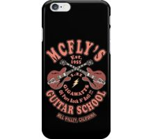 McFly's Guitar School Vintage iPhone Case/Skin