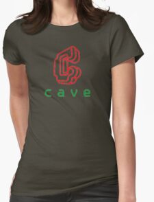 Cave Logo Womens Fitted T-Shirt