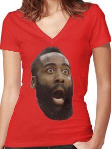 Houston Rockets James Harden  Women's Fitted V-Neck T-Shirt
