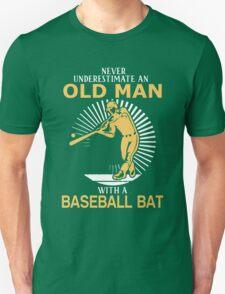 Never Underestimate An Old Man With A Baseball Bat T-Shirt