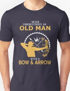 Never Underestimate An Old Man With A Bow & Arrow T-Shirt