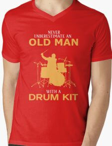 Never Underestimate An Old Man With A Drum Kit T-Shirt