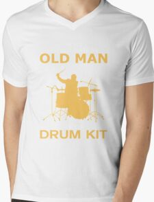 Never Underestimate An Old Man With A Drum Kit Mens V-Neck T-Shirt