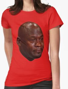 Crying Jordan Womens Fitted T-Shirt