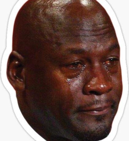 Crying Jordan Sticker