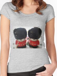 *Salt & Pepper Shakers Women's Fitted Scoop T-Shirt