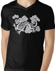 Year of the Luck Dragon (White Ink)  Mens V-Neck T-Shirt