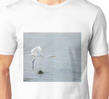 Great White Egret taking off Unisex T-Shirt