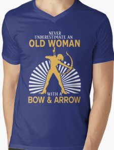 Never Underestimate An Old Woman With A Bow & Arrow Mens V-Neck T-Shirt