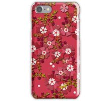 Floral texture with imitation glass.  iPhone Case/Skin