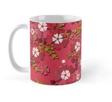 Floral texture with imitation glass.  Mug