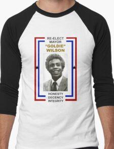 Re-elect Mayor Goldie Wilson T Shirt Men's Baseball ¾ T-Shirt