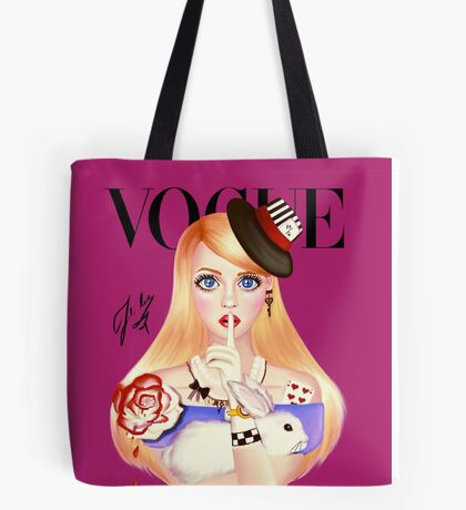 My Name is Alice and this is my Wonderland ( Pink Version) Tote Bag
