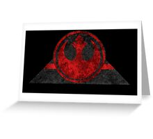Rebel Alliance symbol desgin Greeting Card