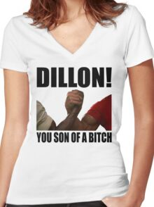 Predator Dillon You Son Of A Bitch Women's Fitted V-Neck T-Shirt