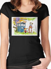 Adventure in Time & Space! Women's Fitted Scoop T-Shirt