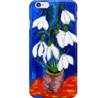 Snowdrop Flowers Painting iPhone Case/Skin