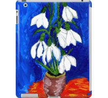 Snowdrop Flowers Painting iPad Case/Skin