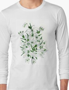 Snowdrop Flowers Painting 2 Long Sleeve T-Shirt
