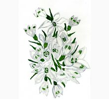 Snowdrop Flowers Painting 2 Unisex T-Shirt