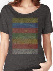 Radiohead - In Rainbows | Lyrics T-Shirt Design Women's Relaxed Fit T-Shirt