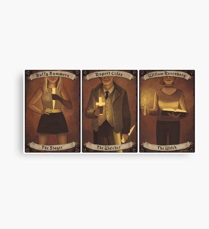 Buffy Occult Cards Canvas Print