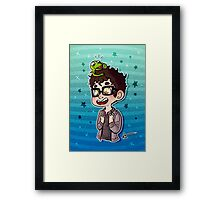 Darren and Kermit  Framed Print