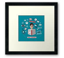 Technical Email Support Service with Man. Online Service.  Framed Print