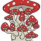 Giant Mushroom with Sprouts (all red version) by Brett Gilbert