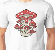 Giant Mushroom with Sprouts (all red version) Unisex T-Shirt