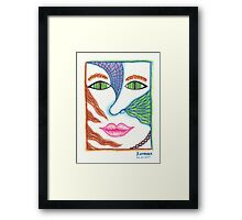 Abstract colorful girl portrait Framed Print
